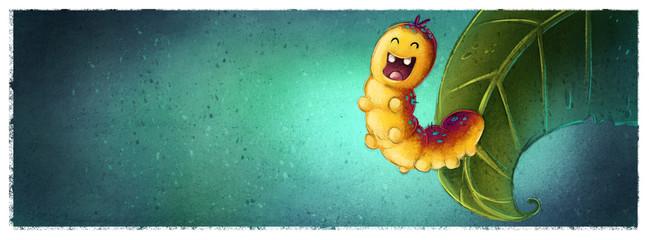 gusano en hoja