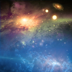 Deep space scene  Some elements provided courtesy of NASA