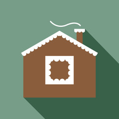Cookie home vector icon.
