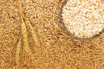 Wheat; Sprig wheat and ground oats