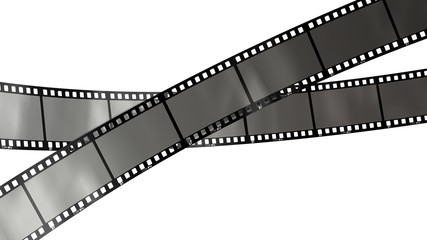 movie filmstrips isolated on white