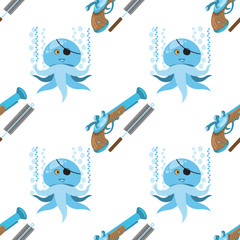 Seamless pattern for design surface Musket and ramrod.