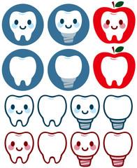 歯の可愛いキャラクター