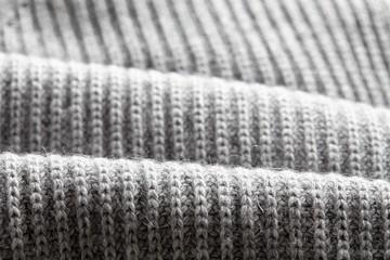Macro gray knitted fabric
