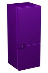 Purple refrigerator. 3D rendering.