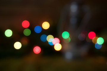 blurred Christmas Background, Christmas lanterns, festive backgr