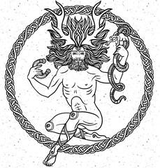 Detailed Virgo in aztec style