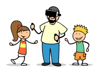 Online spielen mit Virtual Reality Brille