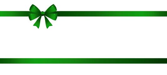 Schleife im Doppel - Grün
