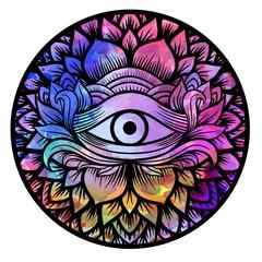 Third eye with mandala