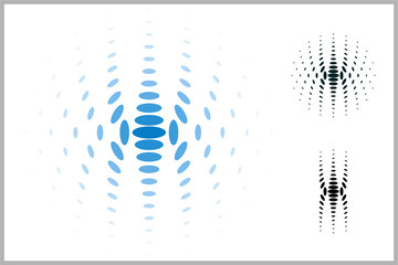 Vector abstract dotted symbol with future style