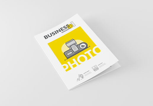 Photo Booklet Layout with Cartoon Style Elements