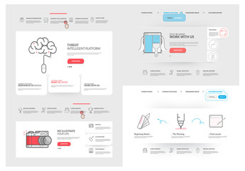 Color Pop Multimedia Website Layout with Cartoon Style Design Elements 2