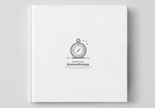 Grayscale Cartoon Style Business and Tech Icon Set 5