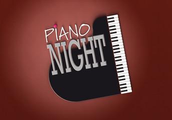 Piano Night - Typo - Flügel