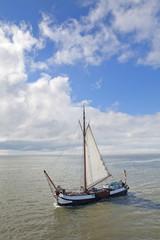 Sailingship at waddenzee Holland