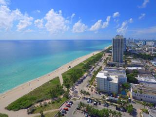 Aerial image Miami Beach coastal scene