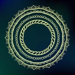 Mandala background, henna natural colors.