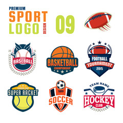 Sport logo design set