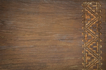 wood background with carving design