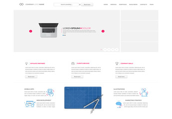 Modern Minimalist Multimedia Website Layout 2
