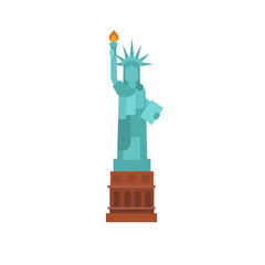 The Statue of Liberty vector flat illustration