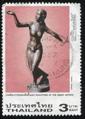 statue of a dancing woman