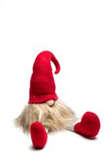 Sitzender roter Weihnachtself