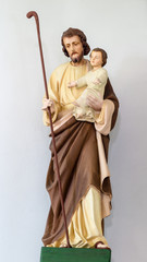 Sculpture of Saint Joseph with little Jesus Christ