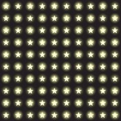 Vector set of stars garlands light on a transparent background. Seamless background