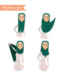 Muslim woman wears hijab