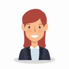businesswoman avatar elegant icon vector illustration design