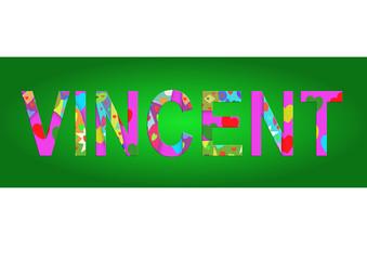 Vorname Vincent, Grafik