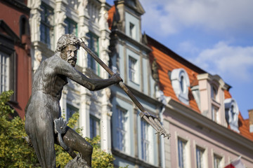 A historic fountain in Gdansk