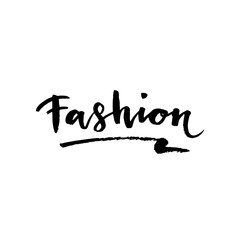 Fashion lettering. Brush stroke vector sketch cosmetic quote.