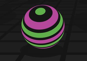 蛍光球のタイトルグラフィック