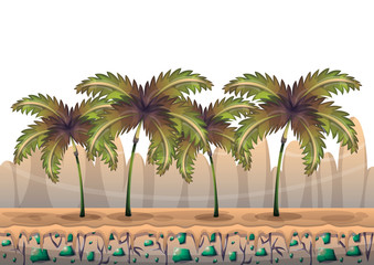 cartoon vector nature landscape background with separated layers for game art and animation game design asset in 2d graphic