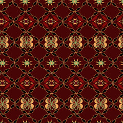 Seamless pattern in ornate style