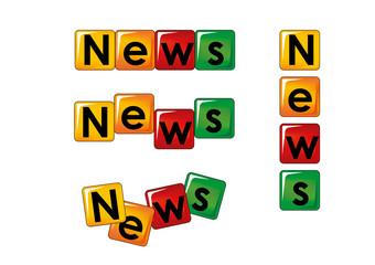 news scritte