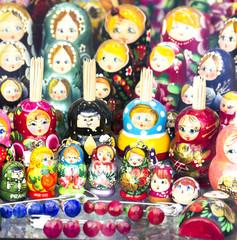 Group of Russian nesting dolls (Matryoshka dolls)