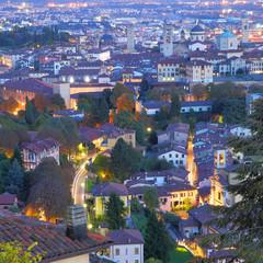 Wall Mural - Upper town of Bergamo