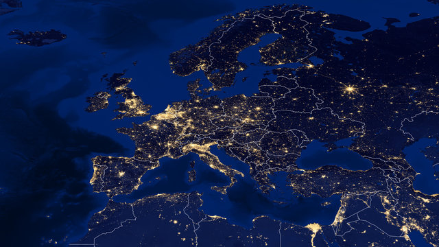 Europe - Night & Borders