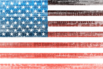 Usa flag text effect background