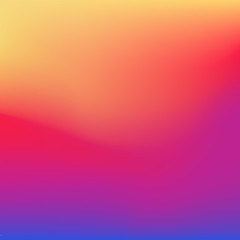 2016 instagram gradient style background. Vector smooth colorful illustration. Abstract blurred social media wallpaper.