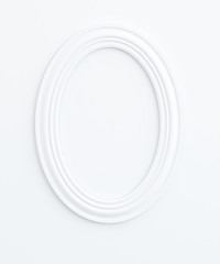 Oval frame is on white background