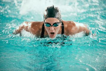 Butterfly Stroke Swimmer.