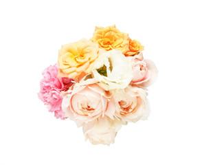カーネーション、トルコキキョウと薔薇の花束