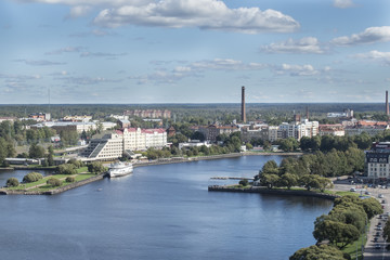 Keuken foto achterwand Stockholm panorama of Vyborg from the lookout tower in the Vyborg castle