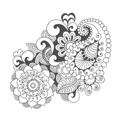 Henna doodle vector elements