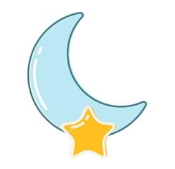 Moon month vector illustration.